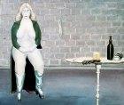 1977, Vrouw met stilleven, 60 x 80 cm