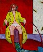 1978, Vrouw op Stoel, 120 x 100 cm