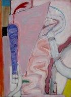 1979, Stilleven met paarse Vorm, 80 x 60 cm