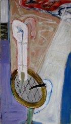 1979, Stilleven met Plant, 140 x 80 cm