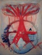 1985, Vulkaan, 50 x 40 cm