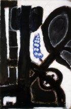 1986, Landschap met blauwe Bloem,  42 x 66 cm
