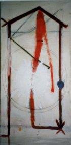 1988, Brandend Huis, 170 x 80 cm