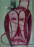 1998, Rode Boer, 60 x 43 cm