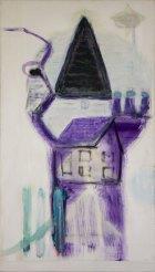 1991, het Paarse Huis, 164 x 95 cm