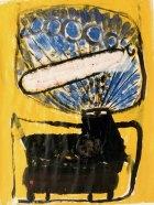 1991, Kachel, 55 x 40 cm